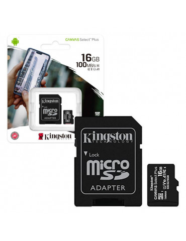 KINGSTON MICRO SD 16GB CON...